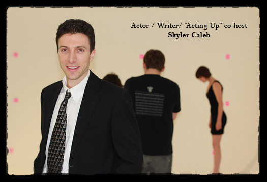 -Skyler Caleb on set-